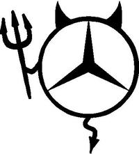 Mercedes Devil Decal / Sticker