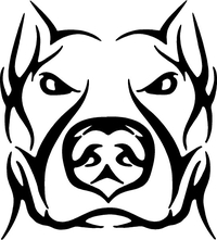 Pitbull Decal / Sticker 07