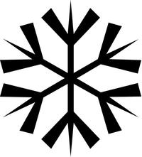Snow Flake Decal / Sticker 04
