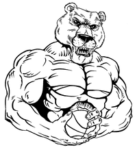 Basketball Bear Mascot Decal / Sticker