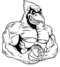 Basketball Cardinals Mascot Decal / Sticker 5