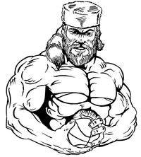 Basketball Frontiersman Mascot Decal / Sticker 4