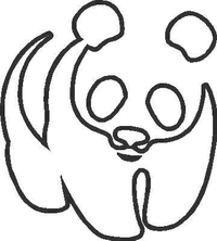 Panda Bear Decal / Sticker 02