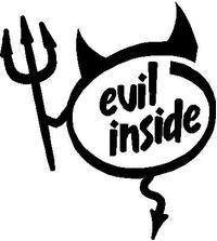 Evil Inside Devil Decal / Sticker