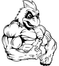 Football Cardinals Mascot Decal / Sticker 3