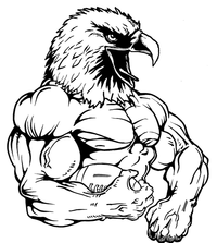 Football Eagles Mascot Decal / Sticker 04