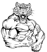 Football Leopards Mascot Decal / Sticker 4