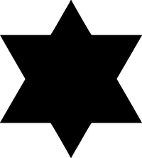 Jewish Star of David Decal / Sticker 07