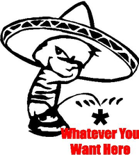 Z1 Pee on Mexican Decal / Sticker 02