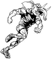 Track Elephants Mascot Decal / Sticker 2