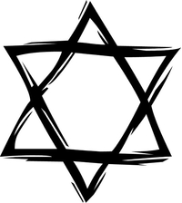 Jewish Star of David Decal / Sticker 05