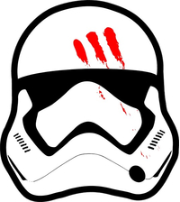 Star Wars Finn Helmet Decal / Sticker 01