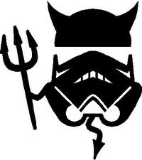 Stormtrooper Devil Decal / Sticker