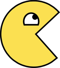 Pac-Man Awesome Happy Face Decal / Sticker 21