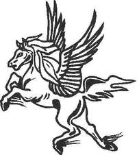 Pegasus Decal / Sticker 04