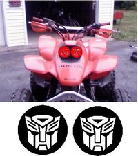 400EX Autobot Headlight Covers Decal / Sticker