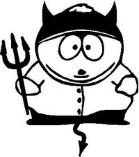 Cartman Devil Decal / Sticker