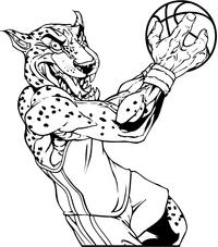 Basketball Jaguars Mascot Decal / Sticker