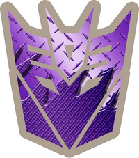 Transformers Decepticon 06 Purple Carbon Plate Decal / Sticker 03