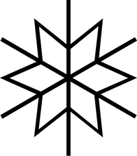 Snow Flake Decal / Sticker 01
