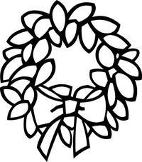 Wreath Decal / Sticker 03