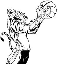 Tigers Basketball Mascot Decal / Sticker