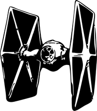 Tie Fighter Decal / Sticker 01