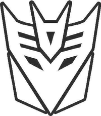 Transformers Decepticon 07 Decal / Sticker