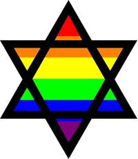 Rainbow LGBT Flag Star of David Decal / Sticker 23