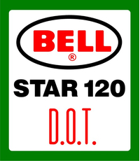 Bell Helmets Star 120 D.O.T. Decal / Sticker 07