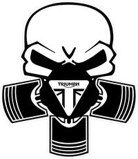 Triumph Piston Gas Mask Decal / Sticker 72