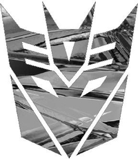 Silver Shattered Chrome Decepticon Decal / Sticker