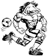 Soccer Horse Mascot Decal / Sticker 5
