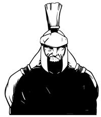 Paladins / Warriors Mascot Decal / Sticker 6