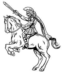 Paladins / Warriors Misc Mascot Decal / Sticker 3