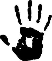Skyrim We Know Hand Print Decal / Sticker 02