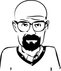 Breaking Bad Heisenberg (Walter White) Decal / Sticker 35
