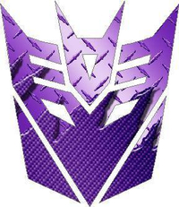Transformers Decepticon 06 Purple Carbon Plate Decal / Sticker
