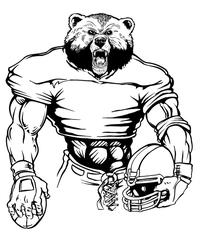 Football Bear Mascot Decal / Sticker 12