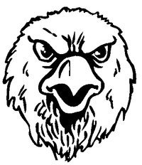 Eagles Mascot Decal / Sticker 3