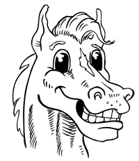 Horse Mascot Head Decal / Sticker 1