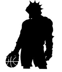 Basketball Knights Mascot Decal / Sticker 3