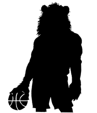Basketball Lions Mascot Decal / Sticker 1