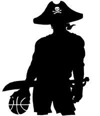 Basketball Pirates Mascot Decal / Sticker 1