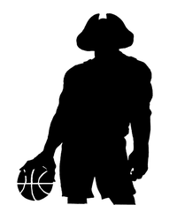 Basketball Patriots Mascot Decal / Sticker 2