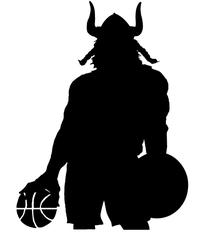 Basketball Vikings Mascot Decal / Sticker 1