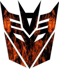 True Fire Decepticon Decal / Sticker