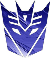 Dark Blue Embossed Metal Decepticon Decal / Sticker