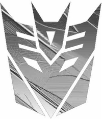 Charcoal Embossed Metal Decepticon Decal / Sticker