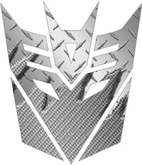 Silver Carbon Plate Decepticon Decal / Sticker
